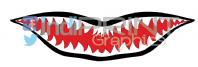 Shark Teeth Decal/Sticker